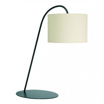 Настольная лампа Nowodvorski Alice 3456, 1xE27x60W, черный, белый, металл, текстиль