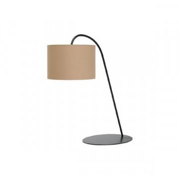 Настольная лампа Nowodvorski Alice 3463, 1xE27x60W, черный, коричневый, металл, текстиль