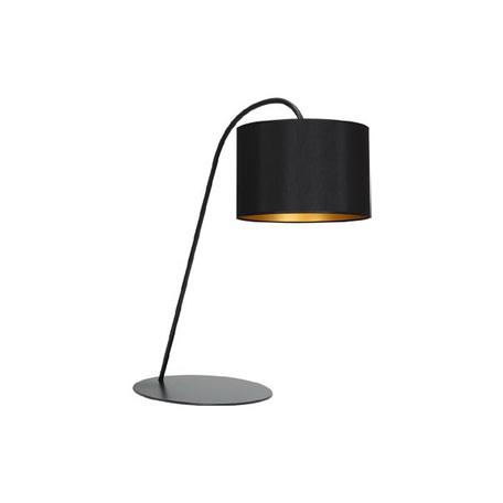 Настольная лампа Nowodvorski Alice 4957, 1xE27x60W, черный, золото, металл, текстиль