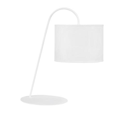 Настольная лампа Nowodvorski Alice 5381, 1xE27x60W, белый, металл, текстиль