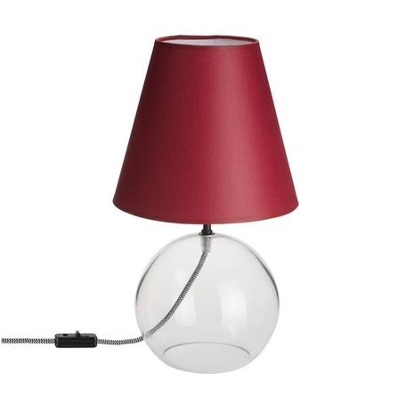Настольная лампа Nowodvorski Meg 5768, 1xE27x60W, прозрачный, красный, стекло, текстиль