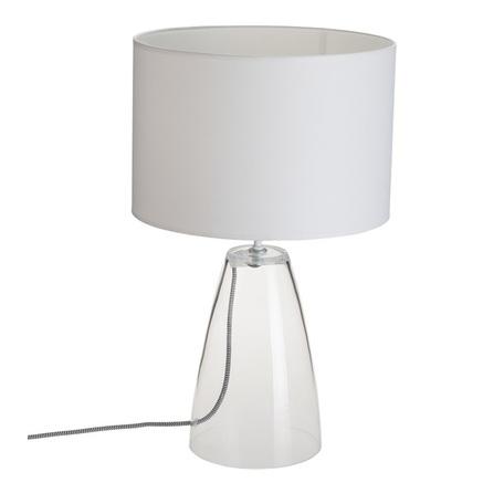 Настольная лампа Nowodvorski Meg 5770, 1xE27x60W, прозрачный, белый, стекло, текстиль