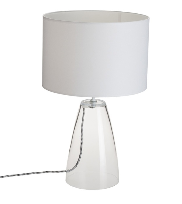 Настольная лампа Nowodvorski Meg 5770, 1xE27x60W, прозрачный, белый, стекло, текстиль - фото 1