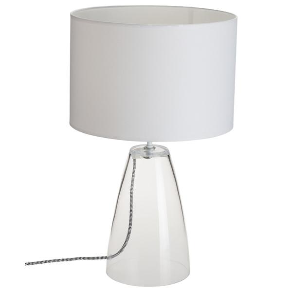 Настольная лампа Nowodvorski Meg 5770, 1xE27x60W, прозрачный, белый, стекло, текстиль - фото 2