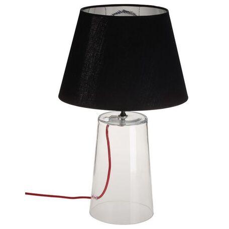 Настольная лампа Nowodvorski Meg 5771, 1xE27x60W, прозрачный, черный, стекло, текстиль