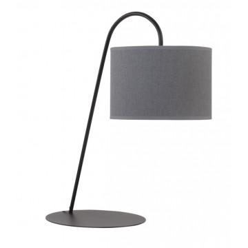 Настольная лампа Nowodvorski Alice 6814, 1xE27x60W, черный, серый, металл, текстиль