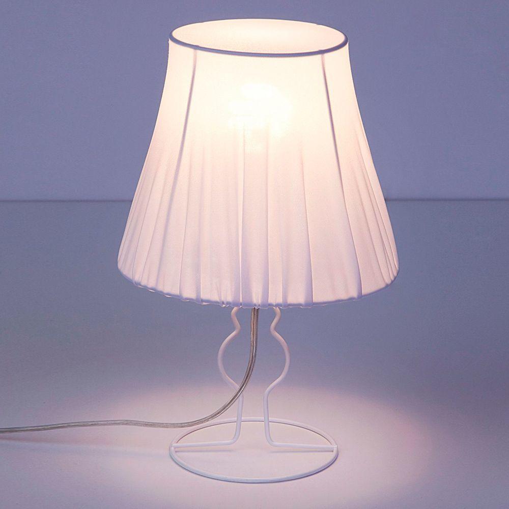 Настольная лампа Nowodvorski Form 9671, 1xE14x25W, белый, металл, текстиль - фото 1