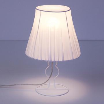 Настольная лампа Nowodvorski Form 9671, 1xE14x25W, белый, металл, текстиль - миниатюра 2