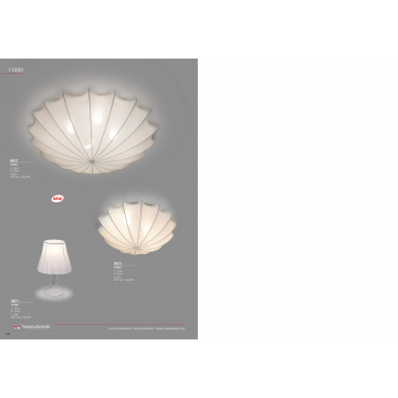 Настольная лампа Nowodvorski Form 9671, 1xE14x25W, белый, металл, текстиль - миниатюра 3