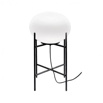Настольная лампа Nowodvorski Nuage 9748, 1xE27x60W, черный, белый, металл, стекло