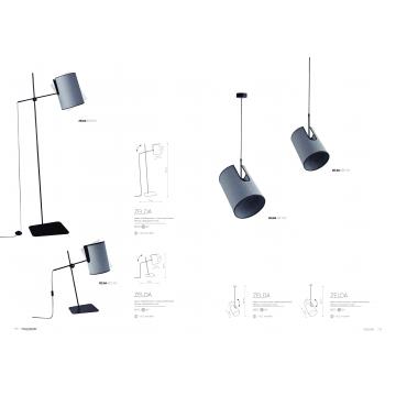 Настольная лампа Nowodvorski Zelda 6012, 1xE27x60W, черный, серый, металл, текстиль - миниатюра 2