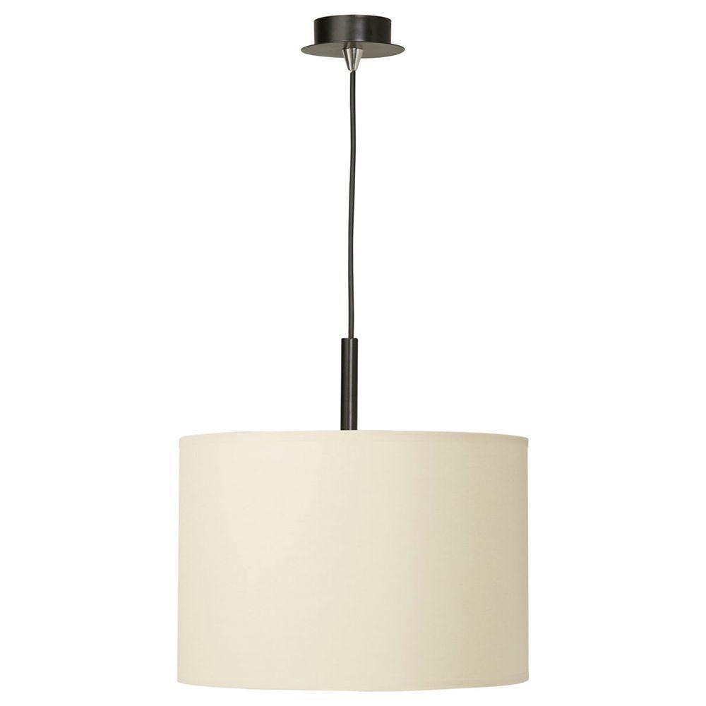 Подвесной светильник Nowodvorski Alice 3458, 1xE27x100W, черный, белый, металл, текстиль - фото 1