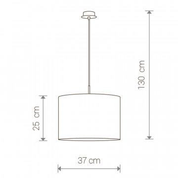 Схема с размерами Nowodvorski 3458