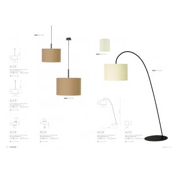 Подвесной светильник Nowodvorski Alice 3458, 1xE27x100W, черный, белый, металл, текстиль - миниатюра 2