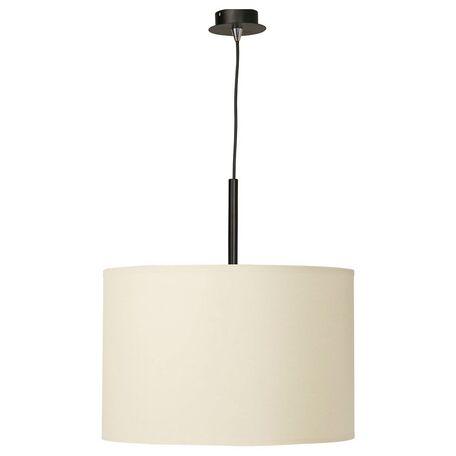Подвесной светильник Nowodvorski Alice 3460, 1xE27x100W, черный, белый, металл, текстиль
