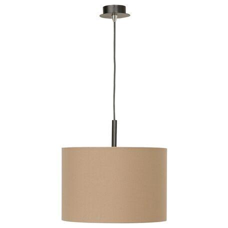 Подвесной светильник Nowodvorski Alice 3465, 1xE27x100W, черный, коричневый, металл, текстиль