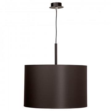 Подвесной светильник Nowodvorski Alice 3473, 1xE27x100W, черный, коричневый, металл, текстиль