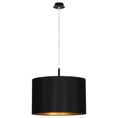 Подвесной светильник Nowodvorski Alice 4961, 1xE27x100W, черный, золото, металл, текстиль