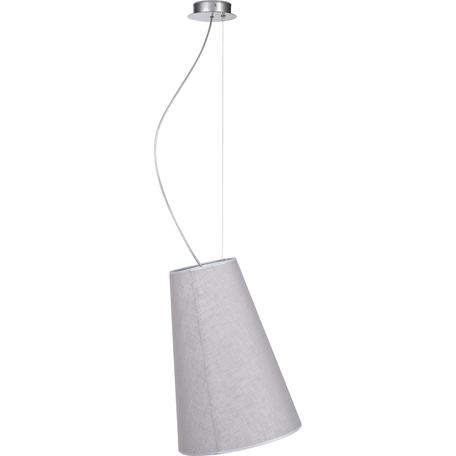 Подвесной светильник Nowodvorski Retto 5200, 1xE27x60W, хром, серый, металл, текстиль