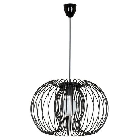 Подвесной светильник Nowodvorski Agadir 5301, 1xE27x60W, черный, металл