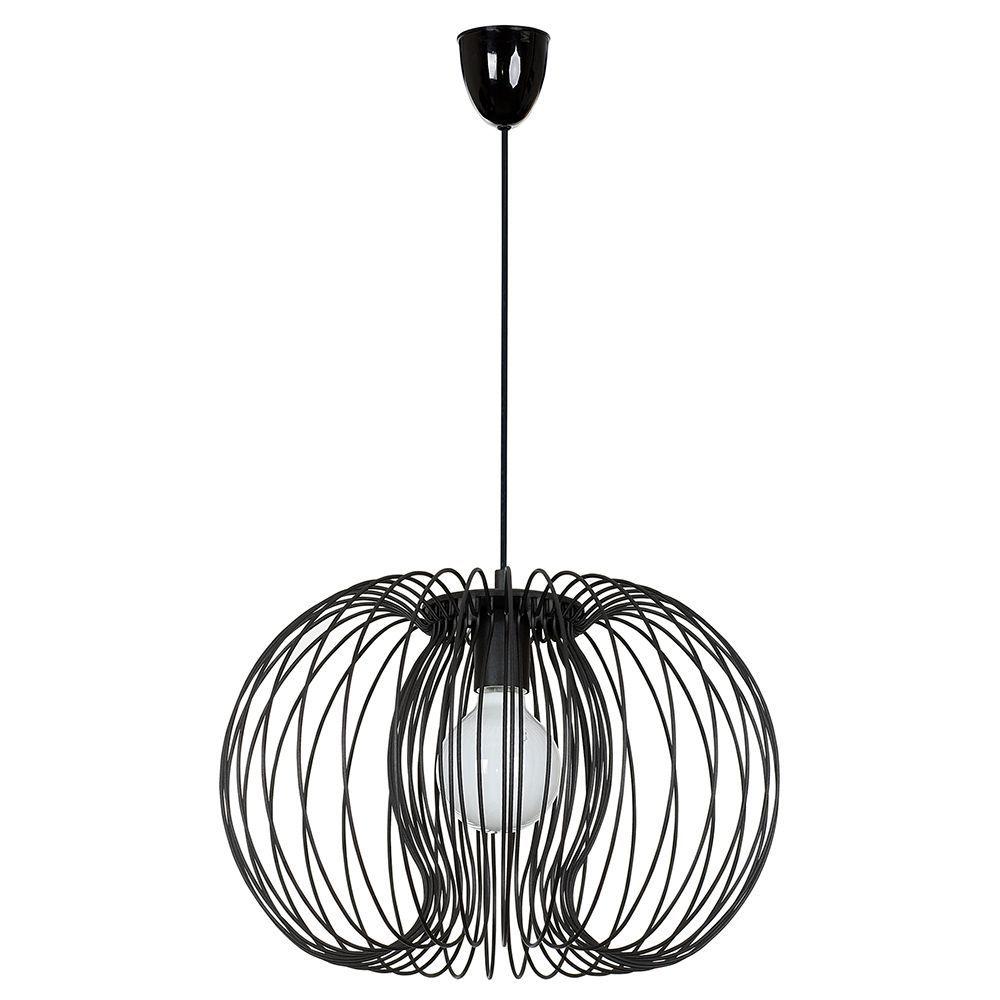 Подвесной светильник Nowodvorski Agadir 5301, 1xE27x60W, черный, металл - фото 1