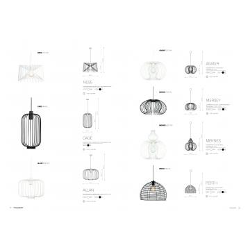 Подвесной светильник Nowodvorski Agadir 5301, 1xE27x60W, черный, металл - миниатюра 2