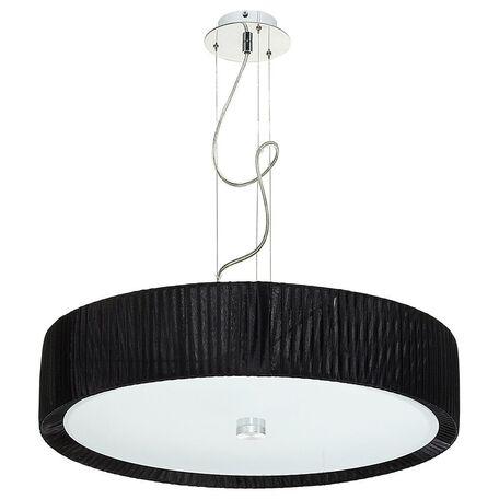 Подвесной светильник Nowodvorski Alehandro 5353, 3xE27x60W, хром, белый, черный, металл, стекло, текстиль