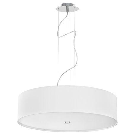 Подвесной светильник Nowodvorski Viviane 6772, 3xE27x60W, хром, белый, металл, стекло, текстиль