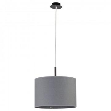 Подвесной светильник Nowodvorski Alice 6815, 1xE27x100W, черный, серый, металл, текстиль