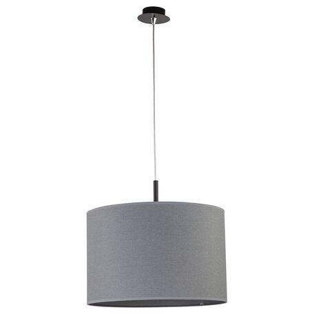 Подвесной светильник Nowodvorski Alice 6816, 1xE27x100W, черный, серый, металл, текстиль