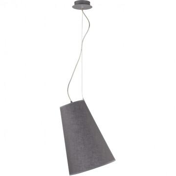 Подвесной светильник Nowodvorski Retto 6821, 1xE27x60W, хром, серый, металл, текстиль