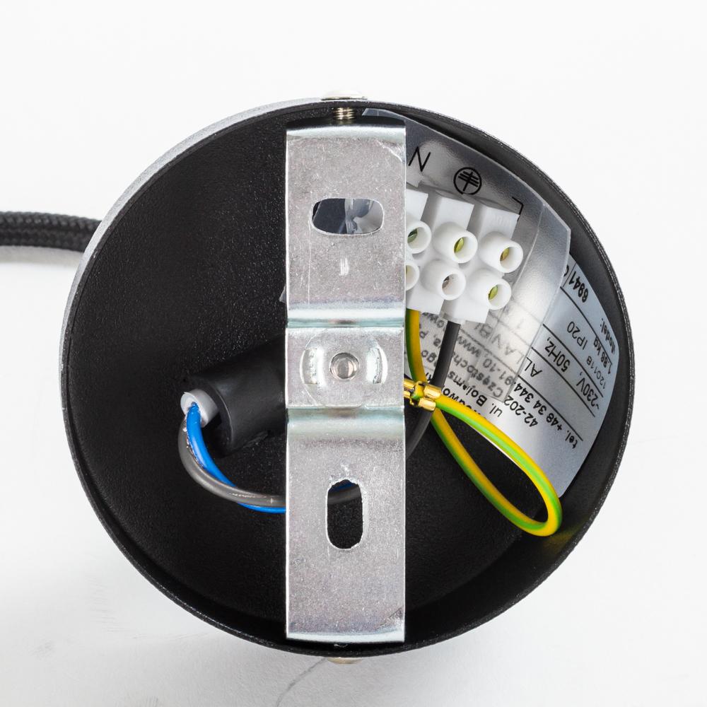 Подвесной светильник Nowodvorski Allan 6941, 1xGU10x35W, черный, металл - фото 5