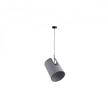 Подвесной светильник с регулировкой направления света Nowodvorski Zelda 6011, 1xE27x60W, черный, серый, металл, текстиль