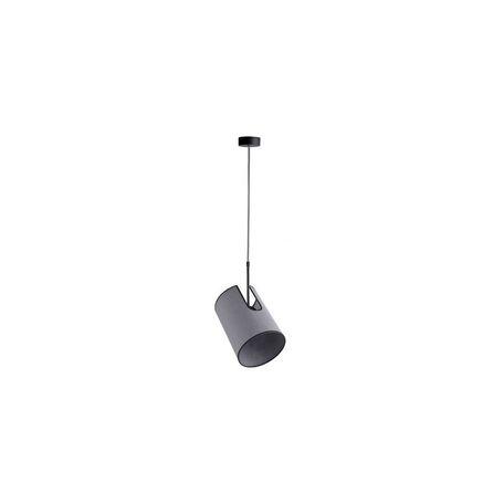 Подвесной светильник с регулировкой направления света Nowodvorski Zelda 6551, 1xE27x60W, черный, серый, металл, текстиль
