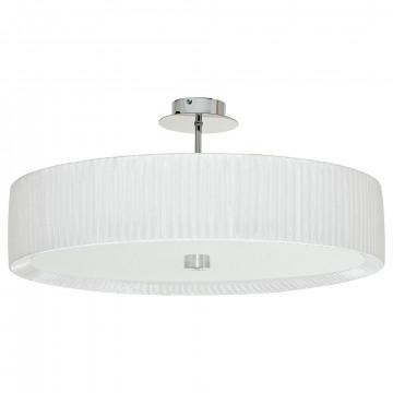 Потолочная люстра Nowodvorski Alehandro 5344, 3xE27x60W, хром, белый, металл, стекло, текстиль