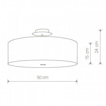 Схема с размерами Nowodvorski 6390