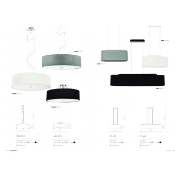 Потолочная люстра Nowodvorski Viviane 6390, 3xE27x60W, хром, белый, черный, металл, стекло, текстиль - миниатюра 2