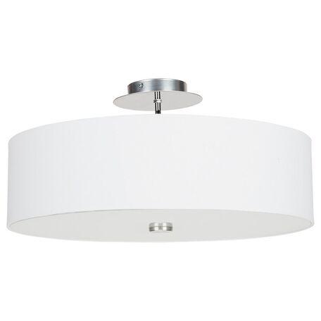 Потолочная люстра Nowodvorski Viviane 6391, 3xE27x60W, хром, белый, металл, стекло, текстиль
