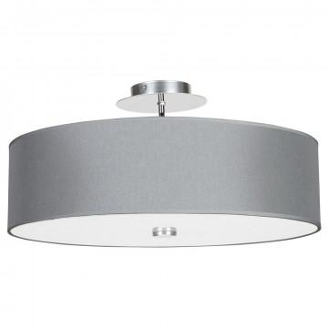 Потолочная люстра Nowodvorski Viviane 6532, 3xE27x60W, хром, белый, серый, металл, стекло, текстиль