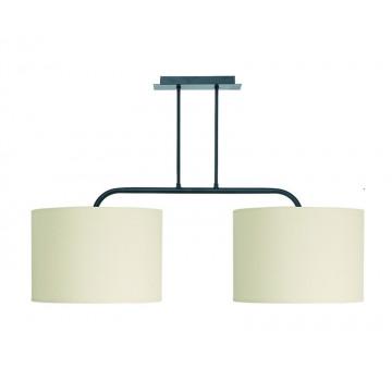 Потолочный светильник Nowodvorski Alice 3461, 2xE27x100W, черный, белый, металл, текстиль
