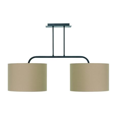 Потолочный светильник Nowodvorski Alice 3467, 2xE27x100W, черный, коричневый, металл, текстиль