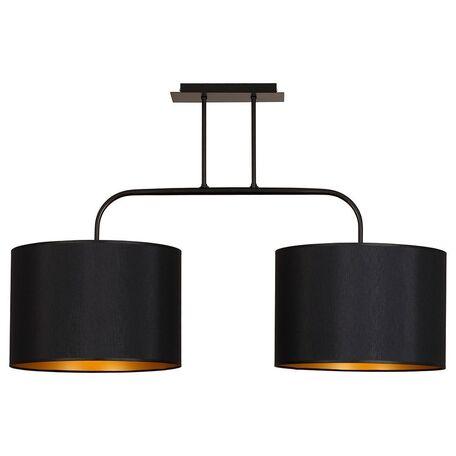 Потолочный светильник Nowodvorski Alice 4962, 2xE27x100W, черный, золото, металл, текстиль