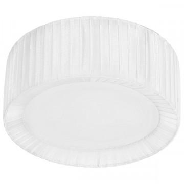 Потолочный светильник Nowodvorski Alehandro 5268, 1xE27x60W, хром, белый, металл, стекло, текстиль