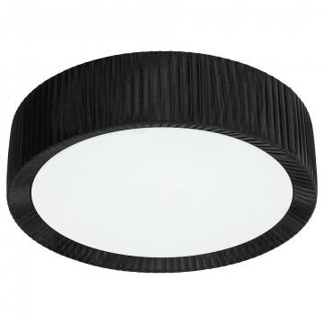 Потолочный светильник Nowodvorski Alehandro 5348, 3xE27x60W, хром, белый, черный, металл, стекло, текстиль