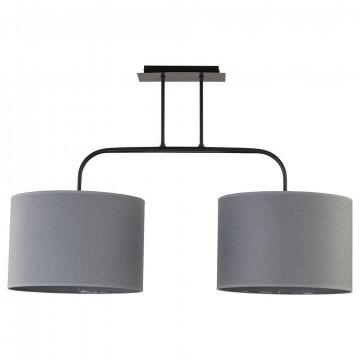 Потолочный светильник Nowodvorski Alice 6817, 2xE27x100W, черный, серый, металл, текстиль
