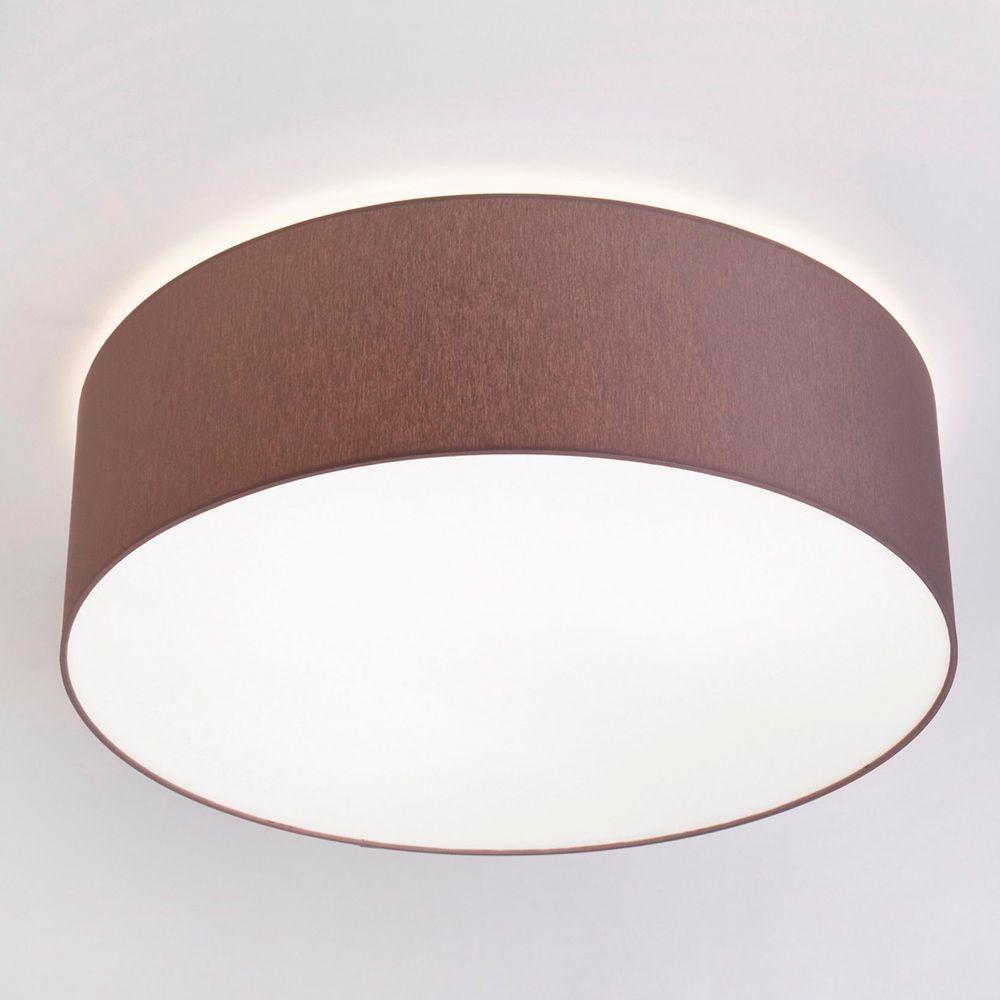 Потолочный светильник Nowodvorski Cameron 9681, 4xE27x25W, коричневый с белым, металл, текстиль - фото 1