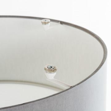 Потолочный светильник Nowodvorski Cameron 9687, 2xE27x25W, серый, белый, металл, текстиль - миниатюра 3