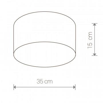 Схема с размерами Nowodvorski 9687