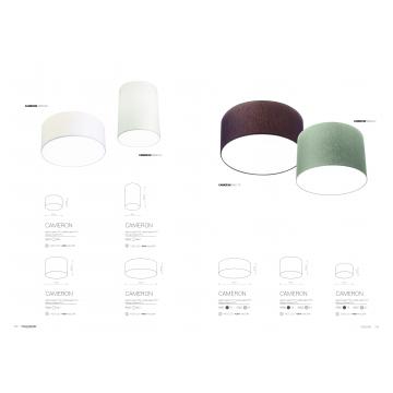 Потолочный светильник Nowodvorski Cameron 9687, 2xE27x25W, серый, белый, металл, текстиль - миниатюра 6