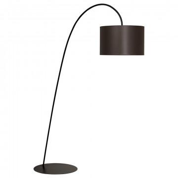 Торшер Nowodvorski Alice 3471, 1xE27x100W, черный, коричневый, металл, текстиль